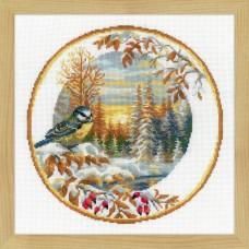 """Набор для вышивания Риолис 1692 """"Тарелка с синицей"""""""
