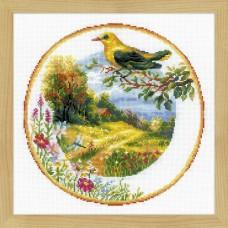 """Набор для вышивания Риолис 1693 """"Тарелка с иволгой"""""""