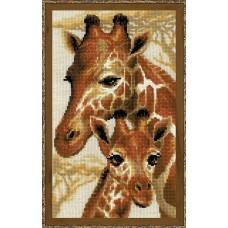 Набор для вышивания крестом Риолис 1697 Жирафы