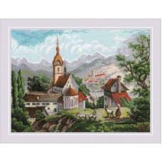 Набор для вышивания Риолис 1701 Монастырь Шоненверт по мотивам гравюр XIX века