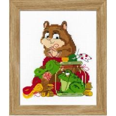 Набор для вышивания крестом Риолис 1709 Какой хомяк без жабы