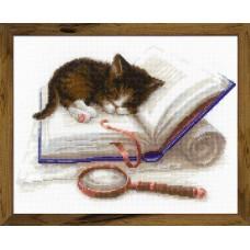 Набор для вышивания Риолис 1725 Котенок на книжке