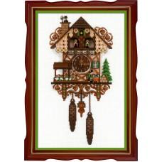 Набор для вышивания крестом Риолис 1730 Часы с кукушкой