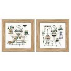 Набор для вышивки Риолис 1737 Интерьер ванной комнаты