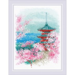 Набор для вышивания Риолис 1743 Сакура. Пагода