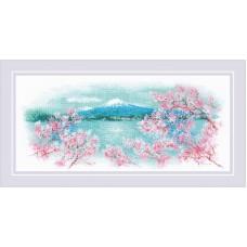 Набор для вышивания Риолис 1744 Сакура. Фудзи
