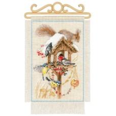 Набор для вышивки Риолис 1751 Дача Зима
