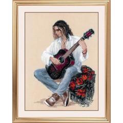 Набор для вышивки Риолис 1766 Гитарист