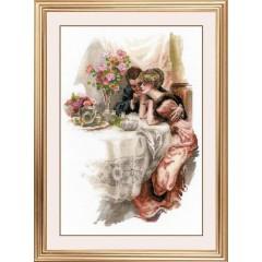 Набор для вышивки Риолис 1774 Первый вечер в собственном доме по мотивам картины Х. Фишера