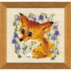 Набор для вышивания крестом Риолис 1776 Маленький лисенок