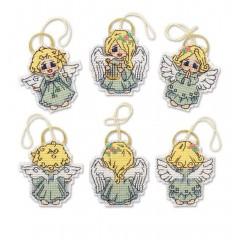 Набор для вышивания крестом Риолис 1778АС Украшения Ангелочки