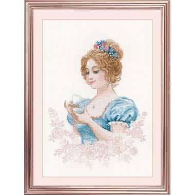 Набор для вышивания крестом Риолис 1791 Чайный клуб