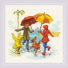 Набор для вышивания крестом Риолис 1799 Нет плохой погоды