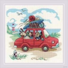 Набор для вышивания крестом Риолис 1800 Папа купил автомобиль