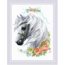 Набор для вышивания крестом Риолис 1804 Белогривая лошадка