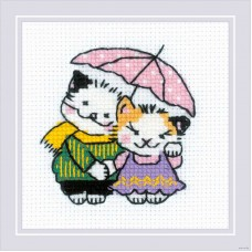 Набор для вышивания крестом Риолис 1810 Котомания Двое под дождем