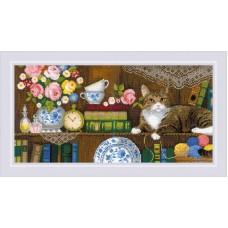 Набор для вышивания крестом Риолис 1815 Панно две подушки Домашний уют