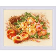 Набор для вышивания крестом Риолис 1827 Сочный персик