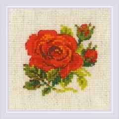 Набор для вышивания крестом Риолис 1843 Розочка