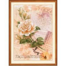 """Набор для вышивания Риолис РТ-0035 """"Письма о любви. Роза"""""""
