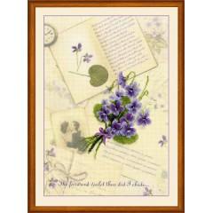 """Набор для вышивания Риолис РТ-0039 """"Письма о любви. Фиалки"""""""