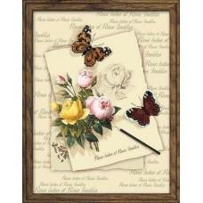 """Набор для вышивания Риолис РТ-0001 """"Бабочки с розами"""""""