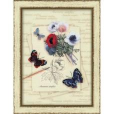 """Набор для вышивания Риолис РТ-0002 """"Бабочки с анемонами"""""""