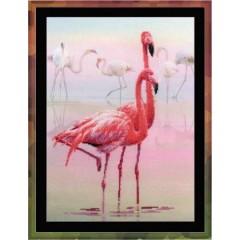 "Набор для вышивки Риолис РТ-0012 ""Фламинго"""
