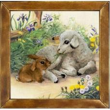 """Набор для вышивания Риолис РТ-0051 """"Ягненок и кролик"""""""