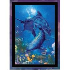 """Набор для вышивки Риолис РТ-0014 """"Три дельфина"""""""