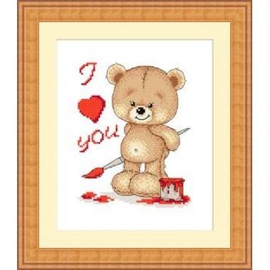 """Набор для вышивания Русский фаворит МК-005 """"I love you"""""""