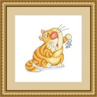"""Набор для вышивания Русский фаворит СК-028 """"Поймал мыша - ешь не спеша"""""""