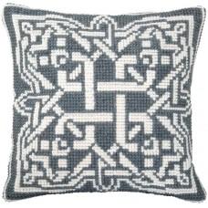 """Набор для вышивки крестом Чарівна Мить РТ-175 """"Серый орнамент"""""""