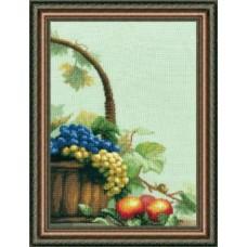 "Набор для вышивки крестом Чарівна Мить 301 "" Корзина с виноградом"""