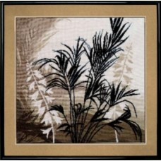 """Набор для вышивки крестом Чарівна Мить 425 """"Триптих Пальмовые листья"""""""