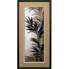 """Набор для вышивки крестом Чарівна Мить 438 """"Триптих Пальмовые листья"""""""