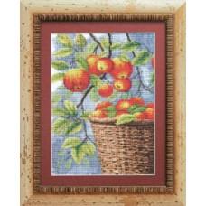 """Набор для вышивки крестом Чарівна Мить 474 """"Яблоки в корзине"""""""