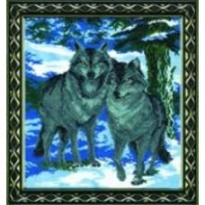"""Набор для вышивки крестом Чарівна Мить 188 """"Волки"""""""