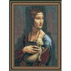 """Набор для вышивки крестом Чарівна Мить 295 """"Дама с горностаем"""""""