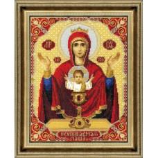 """Набор для вышивки крестом Чарівна Мить 324 """"Икона Пресвятой Богородицы Неупиваемая Чаша"""""""
