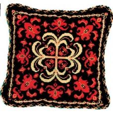 """Набор для вышивки крестом Чарівна Мить 333/2 """"Подушка с красным орнаментом"""""""