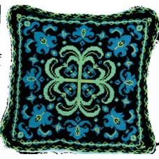 """Набор для вышивки крестом Чарівна Мить 333/3 """"Подушка с синим орнаментом"""""""