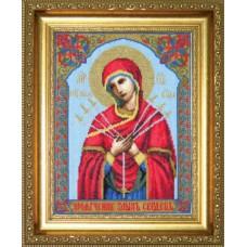 """Набор для вышивки крестом Чарівна Мить 403 """"Икона Образ Пресвятой Богородицы Семистрельная"""""""