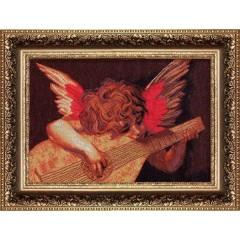 """Набор для вышивки крестом Чарівна Мить 429 """"Ангел с лютней"""""""