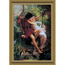 """Набор для вышивки крестом Чарівна Мить 481 """"Влюбленные на качелях"""""""