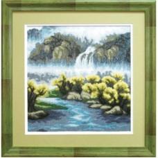"""Набор для вышивки крестом Чарівна Мить 486 """"Осенний водопад"""""""