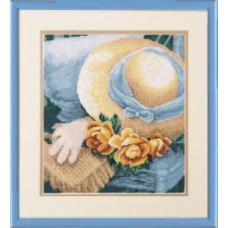 """Набор для вышивки крестом Чарівна Мить 511 """"Соломенная шляпка"""""""