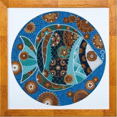 """Набор для вышивки бисером Чарівна Мить Б-746 """"Красочная рыбка"""""""