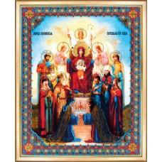 """Набор для вышивки бисером Чарівна Мить Б-1106 Икона """"Похвала Пресвятой Богородицы"""""""
