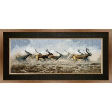 """Набор для вышивки крестом Чарівна Мить 440 """"Бегущие антилопы"""""""